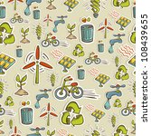 ecology icon set seamless... | Shutterstock .eps vector #108439655
