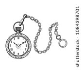 old fashioned vintage clock... | Shutterstock .eps vector #1084398701