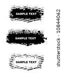 grunge style design elements.... | Shutterstock .eps vector #10844062