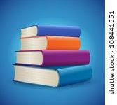 stack of books | Shutterstock .eps vector #108441551