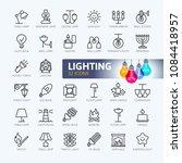 lights web icon set   minimal... | Shutterstock .eps vector #1084418957