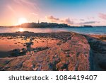 view from the tidal island of... | Shutterstock . vector #1084419407
