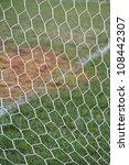 white football net  green grass | Shutterstock . vector #108442307