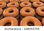 hot donuts ready for sale - stock photo