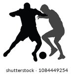 soccer players in duel vector... | Shutterstock .eps vector #1084449254