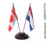 canada and netherlands  two... | Shutterstock . vector #1084457774