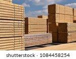 industrial plant sawmill  ... | Shutterstock . vector #1084458254