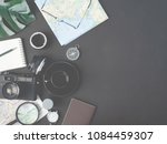 top view travel concept with... | Shutterstock . vector #1084459307