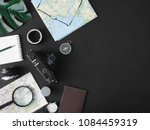 top view travel concept with...   Shutterstock . vector #1084459319