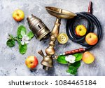 oriental hookah with the aroma... | Shutterstock . vector #1084465184