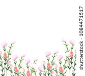 watercolor frame with flowers... | Shutterstock . vector #1084471517