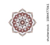 mandala. round ornament floral... | Shutterstock .eps vector #1084477061