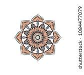 mandala. round ornament floral... | Shutterstock .eps vector #1084477079