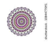 mandala. round ornament floral... | Shutterstock .eps vector #1084477091