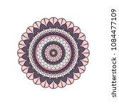 mandala. round ornament floral... | Shutterstock .eps vector #1084477109