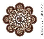mandala. round ornament floral... | Shutterstock .eps vector #1084477121