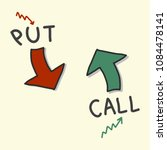 put and call arrow symbols for... | Shutterstock .eps vector #1084478141
