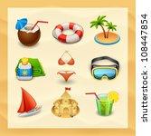 Beach Icon Set 2