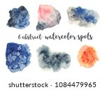 abstract watercolor stains for...   Shutterstock . vector #1084479965