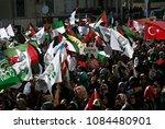 pro palestinian activists... | Shutterstock . vector #1084480901