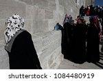 pro palestinian activists... | Shutterstock . vector #1084480919