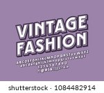 vector vintage fashion style... | Shutterstock .eps vector #1084482914