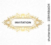 save the date invitation card... | Shutterstock .eps vector #1084486604