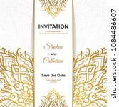 save the date invitation card... | Shutterstock .eps vector #1084486607