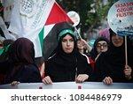 pro palestinian activists... | Shutterstock . vector #1084486979