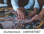 Human Hands With Mosaic In...