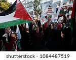 pro palestinian activists... | Shutterstock . vector #1084487519