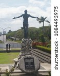 Small photo of Manila, Philippines; April 8, 2018: The Oblation Statue in Diliman, Quezon City, which represents selfless sacrifice, is the iconic symbol of the University of the Philippines.