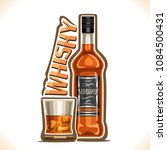 vector illustration of alcohol... | Shutterstock .eps vector #1084500431