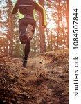 athlete running along the... | Shutterstock . vector #1084507844