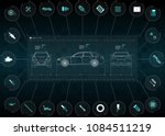the application interface for... | Shutterstock .eps vector #1084511219