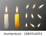 vector 3d realistic white and... | Shutterstock .eps vector #1084516031