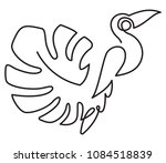 bird painted in one line style | Shutterstock .eps vector #1084518839