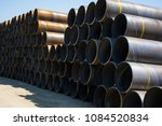 plumbing iron pipes  industry ... | Shutterstock . vector #1084520834