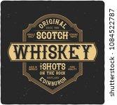 vintage label design with... | Shutterstock .eps vector #1084522787