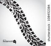 tire track background   Shutterstock .eps vector #108452384