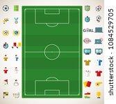 set of soccer  football ...   Shutterstock .eps vector #1084529705