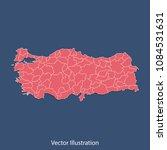 turkey map   high detailed... | Shutterstock .eps vector #1084531631