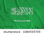 saudi arabia flag printed on a... | Shutterstock . vector #1084535705