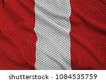 peru flag printed on a... | Shutterstock . vector #1084535759