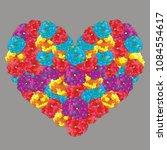 heart of multicolored flowers... | Shutterstock .eps vector #1084554617