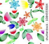 vivid colorful repeating flower ...   Shutterstock .eps vector #1084555004