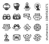 virtual reality technology icon ... | Shutterstock .eps vector #1084563371