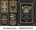 set of 5 labels. western style | Shutterstock .eps vector #1084564295