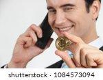 businessman received a lot of... | Shutterstock . vector #1084573094