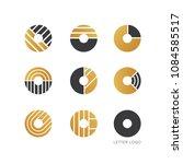 set of letter o logo design  | Shutterstock .eps vector #1084585517